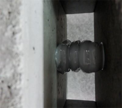 FSコラム工法樹脂の柱になっている施工状況