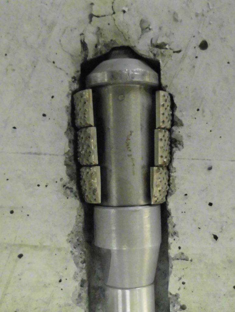拡底式ケミカル・アンカー遠心ビット